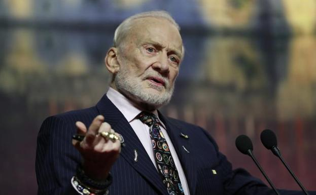 Buzz Aldrin, en China./EFE