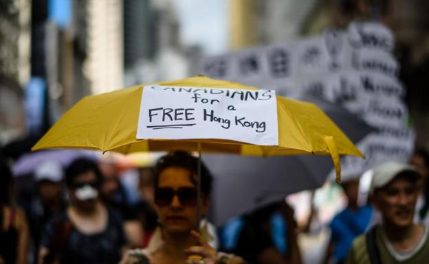 Protesta en Hong Kong./Anthony Wallace