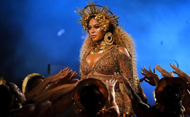 Beyoncé, en los Grammy./GETTY