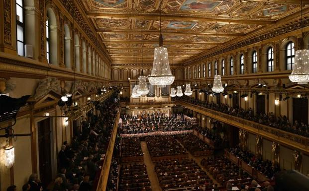 Interior del Musikverein.