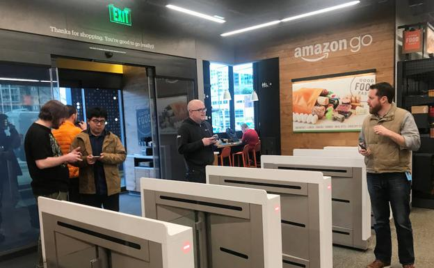 Primera tienda Amazon Go en Seattle/ Reuters