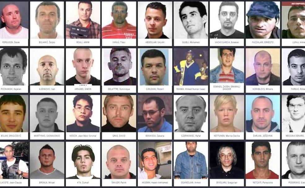 ¿Te suenan estas caras? Estos son los delincuentes más buscados de Europa