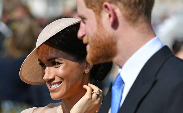 Meghan y Harry, este martes, tras su reciente boda. /Reuters