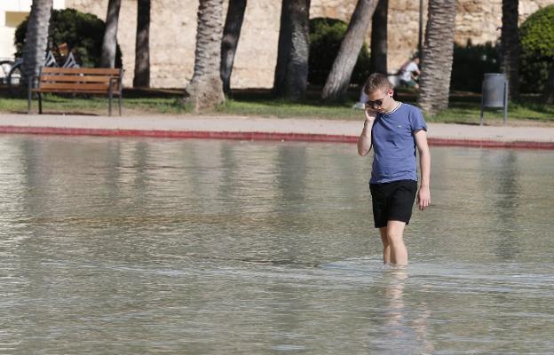Ba os en el estanque del palau de les arts las provincias for Estanque para bano