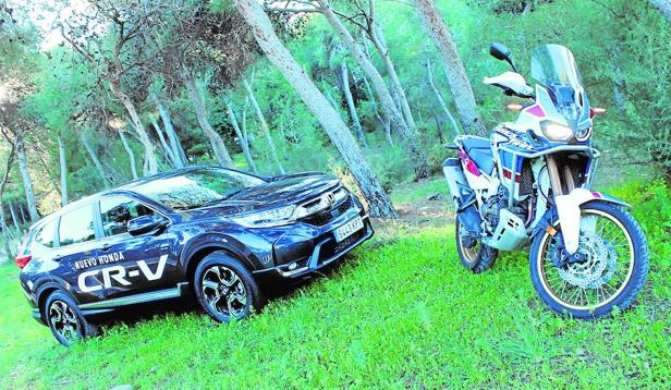 Tanto el CR-V como la Africa Twin son aptos para excursiones/