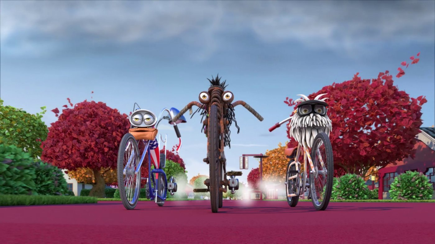 Los personajes de 'Bikes, the movie' en un fotograma. /LP