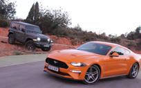 Ford Mustang y Jeep Wrangler