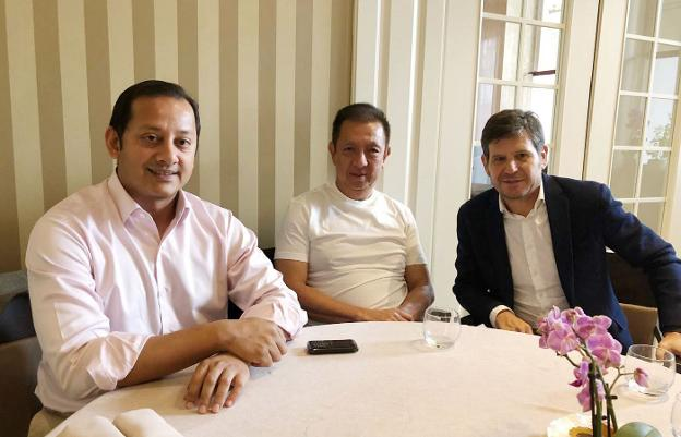Anil Murthy, Peter Lim y Mateo Alemany. / lp