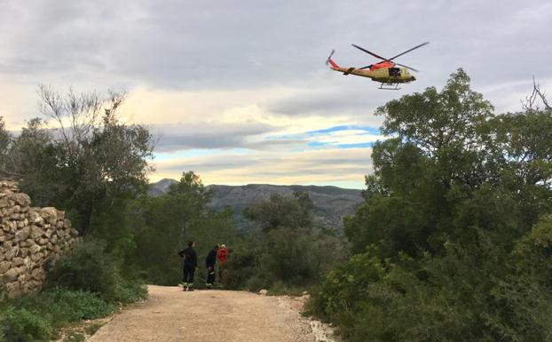 Un amplio dispositivo busca a un hombre desaparecido en Gata