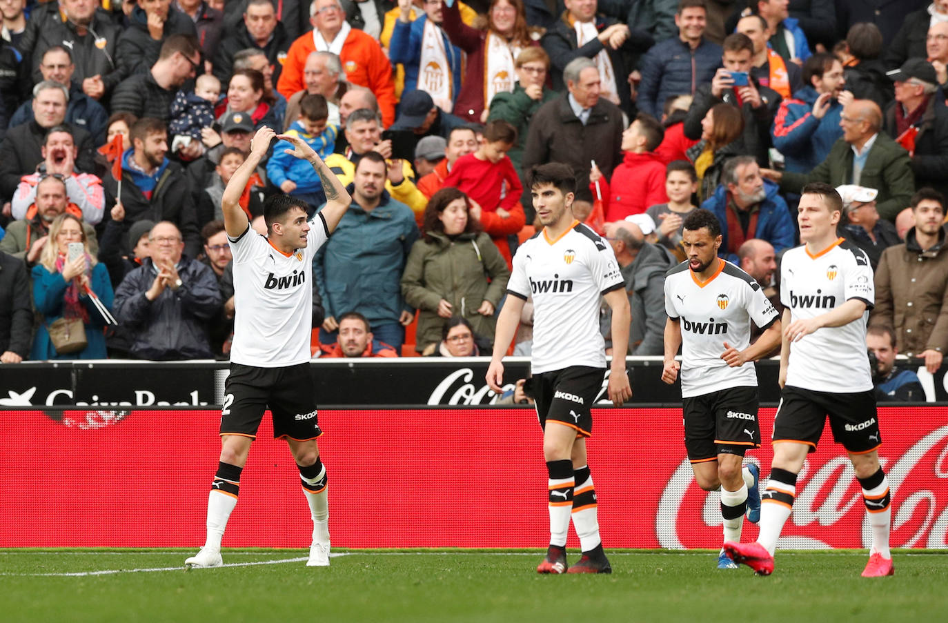 Maxi Gómez celebrando el gol.