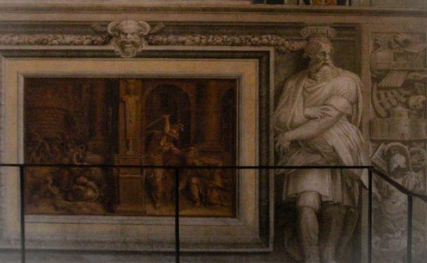 Detalle del lugar en el que se ha vandalizado la obra.