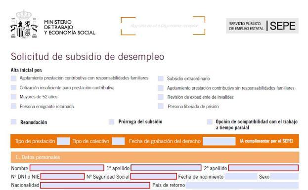 Cómo cobrar la prestación por desempleo en un ERTE: todos los documentos que debo presentar