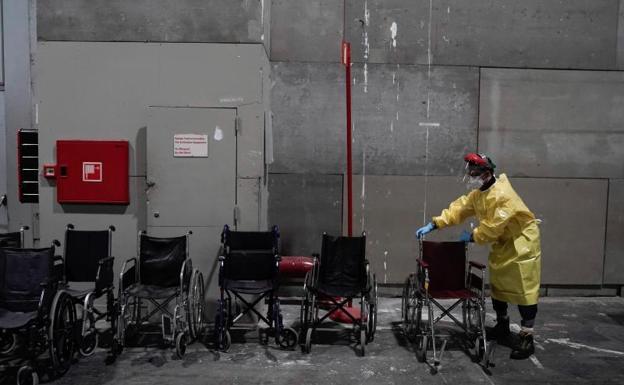 Silla de ruedas para los pacientes.