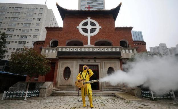 Desinfección de Wuhan, marzo de 2020.