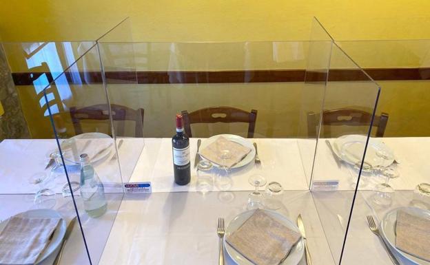 Mamparas para restaurantes.