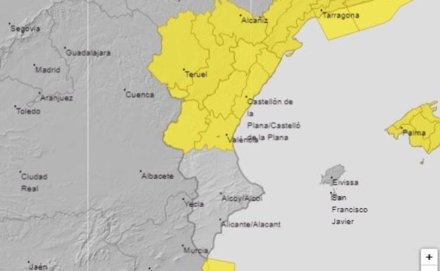 Avisos amarillos por lluvias persistentes y tormentas para este martes 21 de abril.