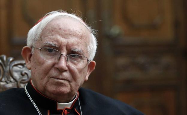 El cardenal arzobispo de Valencia, Antonio Cañizares./IRENE MARSILLA