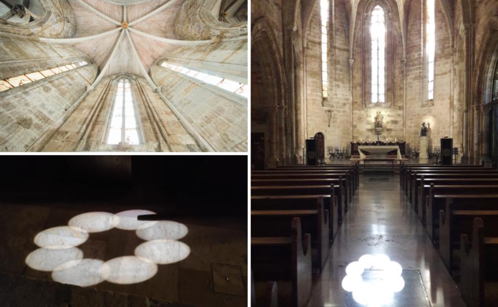 De la ojiva central del ábside nace una «flor» solar que ilumina el interior de la iglesia./Iglesia San Juan del Hospital de Valencia
