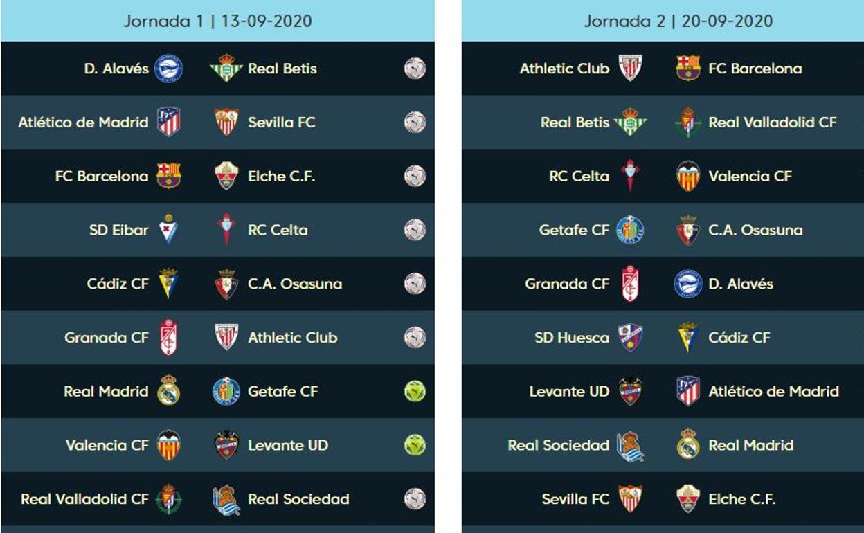 Calendario Liga Pdf 2021 El calendario de la liga 2020 2021, en PDF: partidos de Valencia