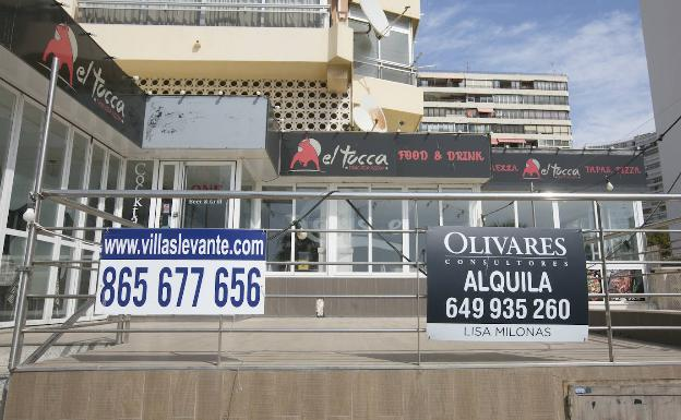 Closed premises in Benidorm.