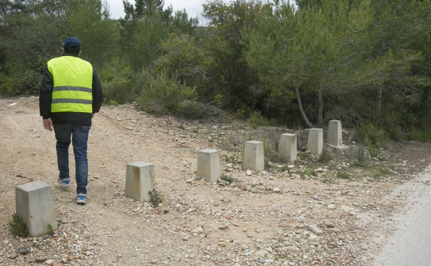 Entrada del camino de Picassent donde fueron hallados los huesos.
