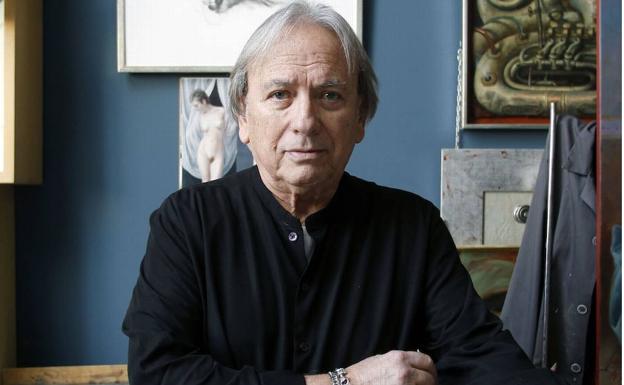 El pintor Álex Alemany, en una imagen de archivo tomada en su estudio. /Irene Marsilla